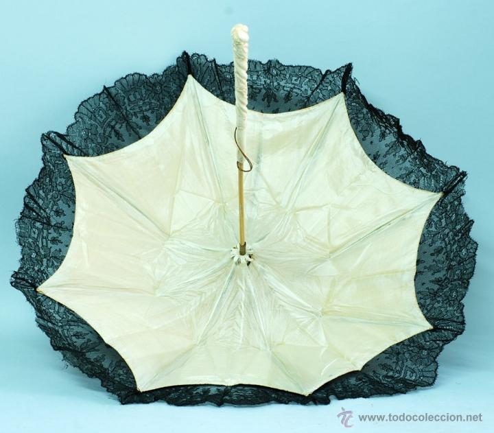 Antiques: Sombrilla en hueso seda y encaje S XIX - Foto 14 - 41007453