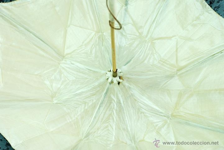 Antiques: Sombrilla en hueso seda y encaje S XIX - Foto 15 - 41007453