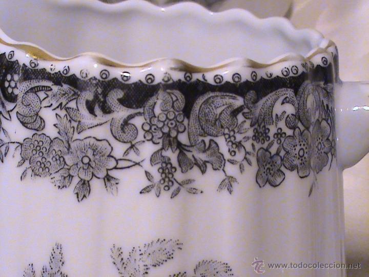 Antigüedades: Juego de jarras para café o té de porcelana Santa Clara. Colección OLD ENGLAND. - Foto 3 - 41013667
