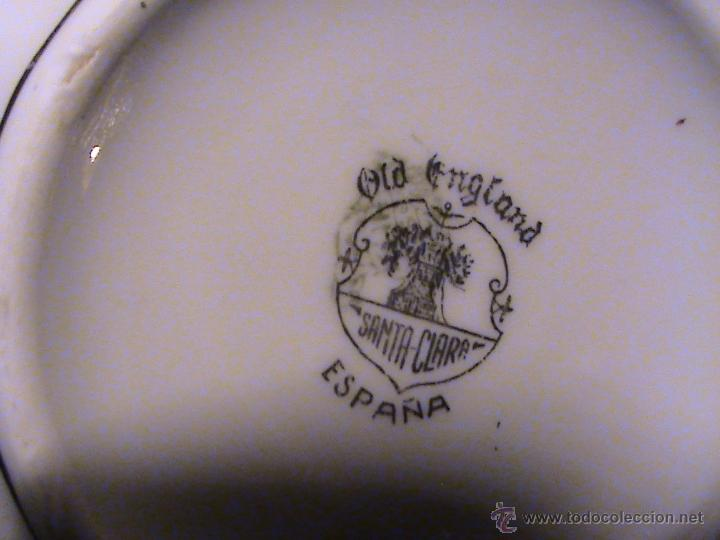 Antigüedades: Juego de jarras para café o té de porcelana Santa Clara. Colección OLD ENGLAND. - Foto 6 - 41013667