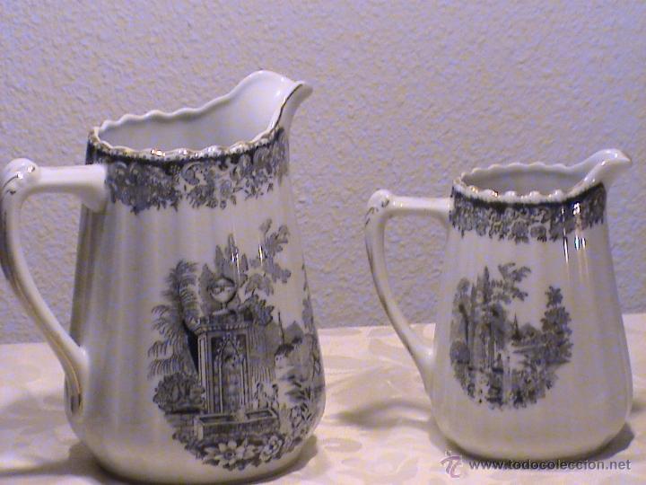 Antigüedades: Juego de jarras para café o té de porcelana Santa Clara. Colección OLD ENGLAND. - Foto 9 - 41013667