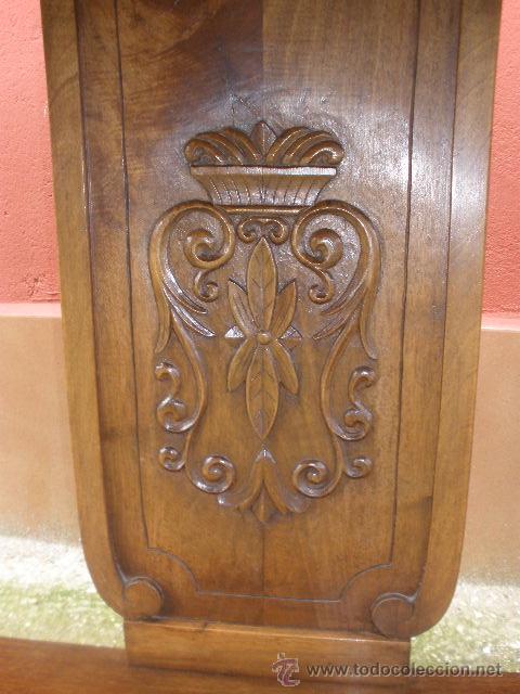 Antigüedades: ENORME CONSOLA DE COMEDOR.NOGAL. 168CM ANCHO. - Foto 7 - 41014379