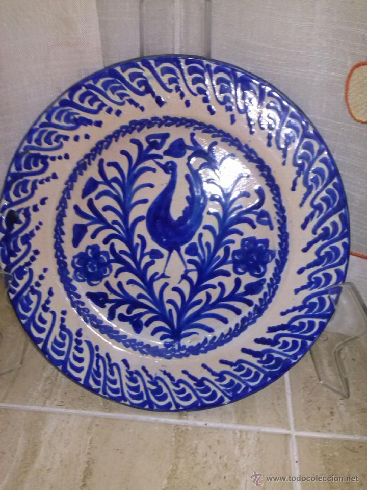 ANTOGUO PLATO DE FAJALAUZA PINTADO A MANO (Antigüedades - Porcelanas y Cerámicas - Fajalauza)