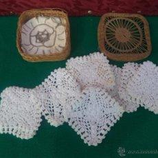 Antigüedades: 10 POZAVASOS HECHO CON GROCHE. Lote 41016471