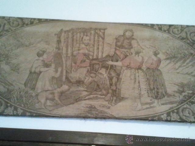 ANTIGUO TAPIZ DE DON QUIJOTE DE LA MANCHA (Antigüedades - Hogar y Decoración - Tapices Antiguos)