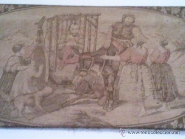 Antigüedades: ANTIGUO TAPIZ DE DON QUIJOTE DE LA MANCHA - Foto 3 - 41019368