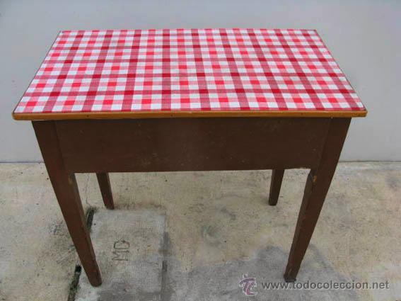 Antigua mesa auxiliar de cocina de madera con c comprar - Mesas antiguas de cocina ...