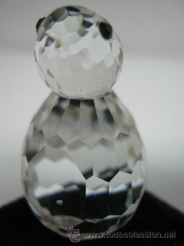 salida para la venta envío gratis nuevo estilo 2 figuras vintage cristal tallado - pinguino Swarovski y erizo