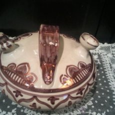 Antigüedades: BOTIJO SANGUINO PUENTE DEL ARZOBISPO REFLEJOS DORADOS. Lote 41020891