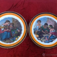Antigüedades: ANTIGUA PAREJA DE PLATOS PARA DECORACION EN PORCELANA DE BAVARIA SELLADO WINTERLING. Lote 72080739