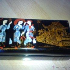 Antigüedades: PRECIOSA CAJA RUSA PALEK PINTADA A MANO.. Lote 41032743