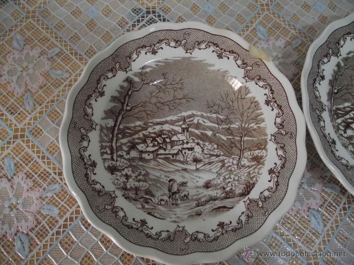 Antigüedades: 2 BONITOS PLATOS HONDOS • PORCELANA ITALIANA • SWISS LANDSCAPE - Foto 2 - 41033625