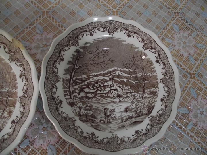Antigüedades: 2 BONITOS PLATOS HONDOS • PORCELANA ITALIANA • SWISS LANDSCAPE - Foto 3 - 41033625
