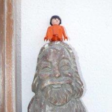 Antigüedades: BONITA TALLA EN MARMOL O ALABASTRO TIPO ROMANICA. Lote 41044990