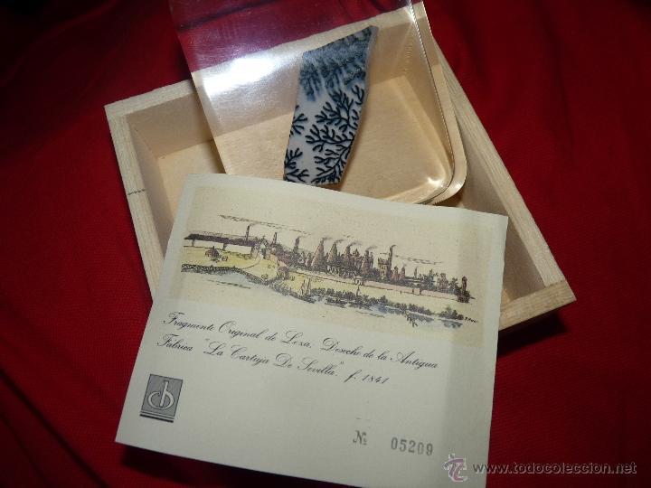 PRECIOSO RESTO DE CERÁMICA PICKMAN EDICIÓN LIMITADA CERTIFICADO (Antigüedades - Porcelanas y Cerámicas - La Cartuja Pickman)
