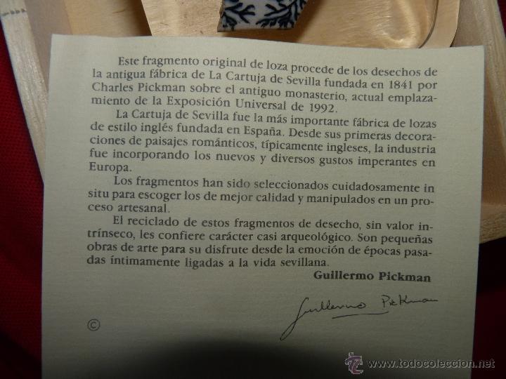 Antigüedades: PRECIOSO RESTO DE CERÁMICA PICKMAN EDICIÓN LIMITADA CERTIFICADO - Foto 10 - 41045725