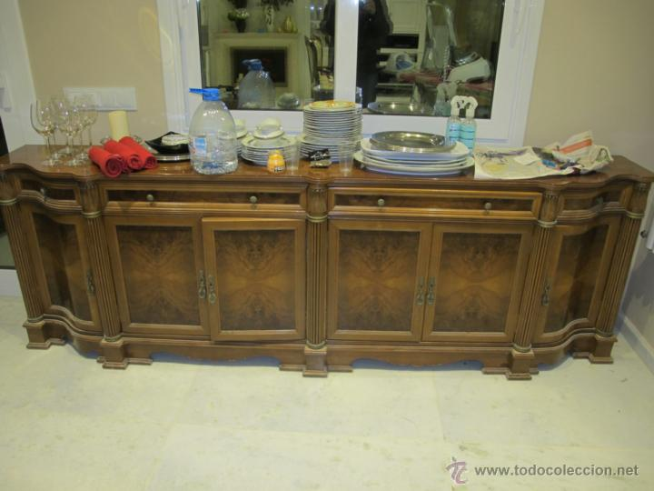 Mueble buffet comedor madera de raiz comprar muebles for Muebles de comedor antiguos