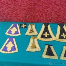 Antigüedades: RESTO DE ESTOLA RELIGIOSA BROQUEADO. Lote 41053641