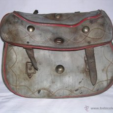 Antigüedades: ANTIGUO ZURRON DE CUERO DE CAZA MALETA O MACUTO. Lote 41054772