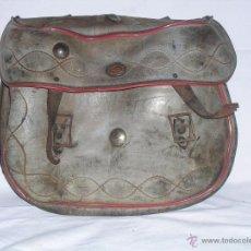 Antigüedades: ANTIGUO ZURRON DE CUERO DE CAZA MALETA O MACUTO. Lote 41054785