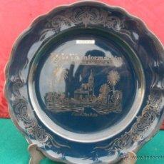 Antiquitäten - plato decoracion pintado en plata de ley - 41072971