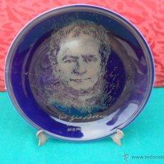 Antiques - plato decoracion pintado en plata de ley - 41073003