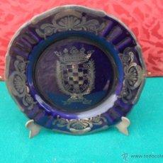 Antiquitäten - plato decoracion pintado en plata de ley moguer - 41073083