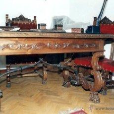 Antigüedades: DESPACHO COMPLETO NOGAL, ESTILO RENACENTISTA. Lote 41074397