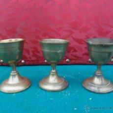 Antigüedades: 3 COPA DE METAL. Lote 41075883