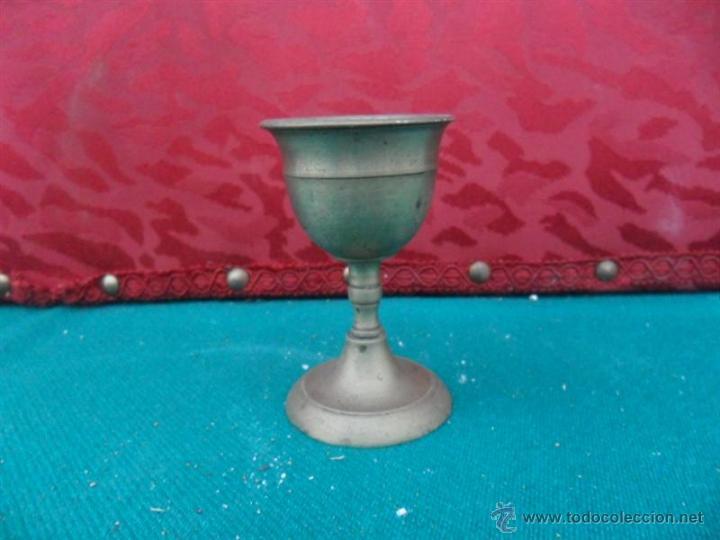 COPA DE METAL ANTIGUA (Antigüedades - Hogar y Decoración - Copas Antiguas)