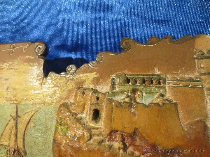 Antigüedades: AZULEJO BAJORRELIEVE DEDICADO Y FIRMADO - Foto 4 - 41088414