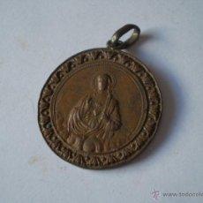 Antigüedades: ANTIGUA MEDALLA SAGRADO CORAZON,EN COBRE,SIGLO XIX.. Lote 41090219