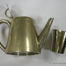 Antigüedades: TETERA INDIVIDUAL ALPACA CON COLADOR AÑOS 20 - 30. . Lote 41092408