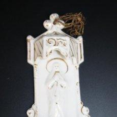 Antigüedades: BENDITERA EN PORCELANA CON DORADOS - ÉPOCA ISABELINA - SEGUNDA MITAD DEL S.XIX. Lote 41093098