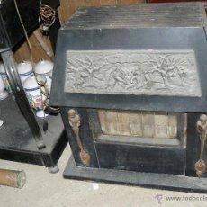 Antigüedades: ANTIGUA ESTUFA MODERNISTA DE HIERRO. Lote 41113581