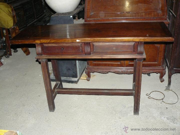 antigua mesa rustica de recibidor de los años - Comprar Muebles ...