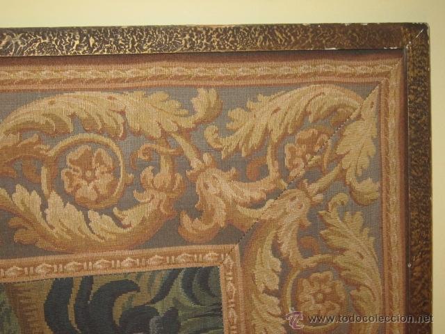Antigüedades: Fantástico tapiz de grandes dimensiones con motivo de bosque romántico - Foto 3 - 41127961