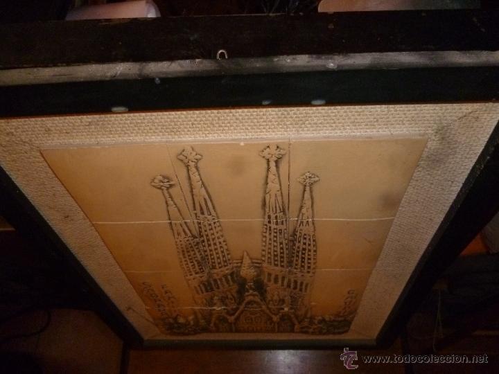 Antigüedades: CUADRO CERÁMICO CATEDRAL BARCELONA - Foto 3 - 41129099