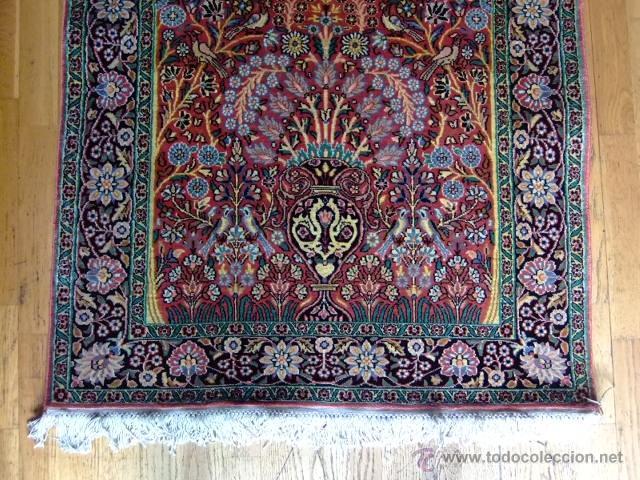 vintage alfombra seda cachemira india anudada a comprar On alfombras de seda india
