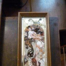 Antigüedades - CUADRO PINTURA EN ESPEJO - 41130408
