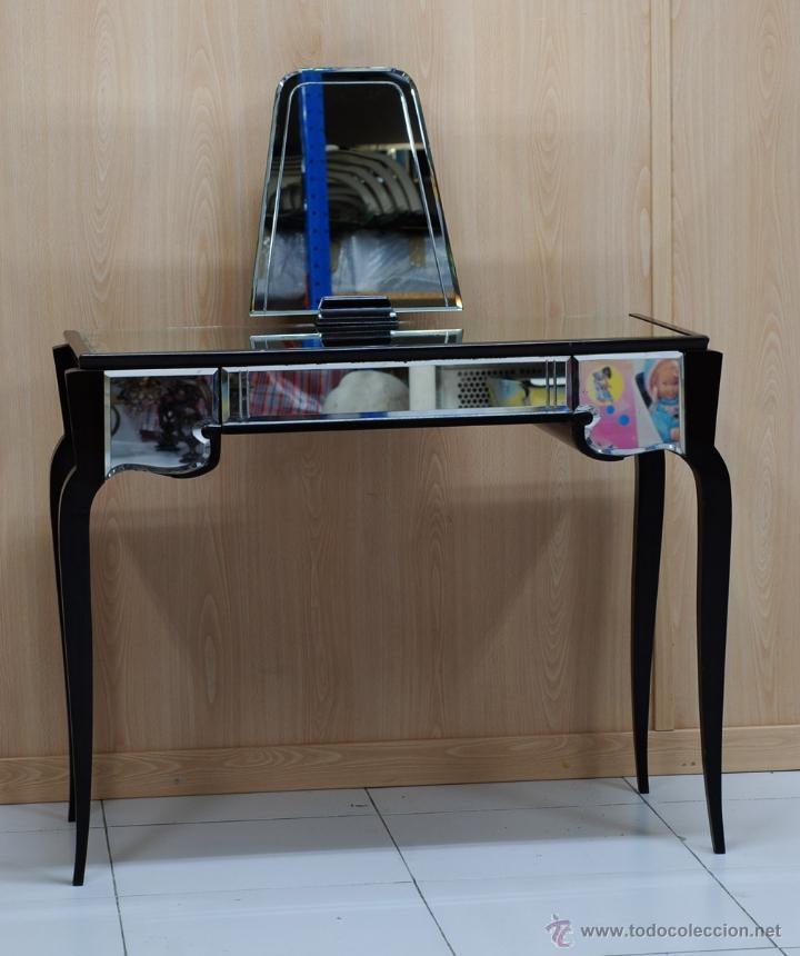 tocador art decó en madera de caoba con cristal - Comprar Muebles ...