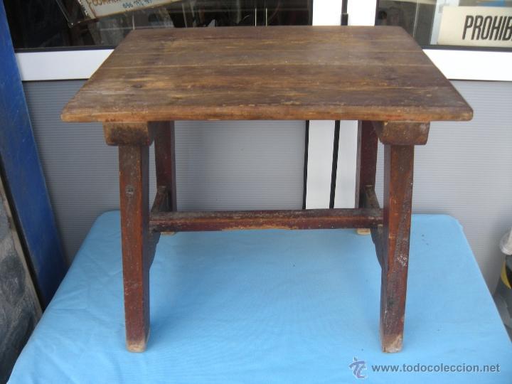 Antigua mesa tocinera en madera de pino r stic comprar for Mesas antiguas rusticas