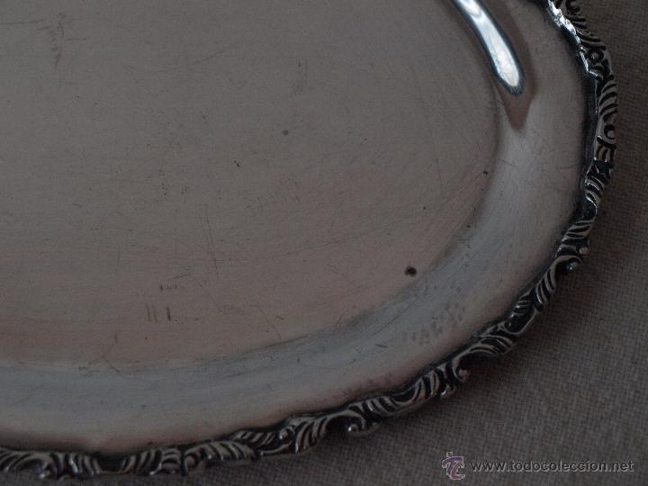 Antigüedades: BANDEJA OVALADA EN PLATA DE LEY CONTRASTADA. 350 GRAMOS. 27 X 19 CM. VER FOTOS Y DESCRIPCION - Foto 9 - 41134049