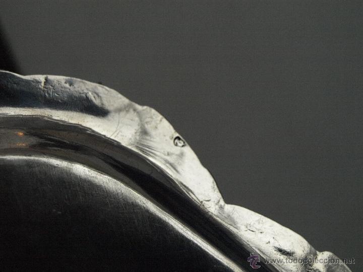 Antigüedades: BANDEJA OVALADA EN PLATA DE LEY CONTRASTADA. 350 GRAMOS. 27 X 19 CM. VER FOTOS Y DESCRIPCION - Foto 23 - 41134049