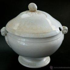 Antigüedades: GRAN SOPERA DE SAN JUAN DE AZNALFARACHE - SEVILLA - SELLOS EN LA BASE - S. XIX. Lote 41134415