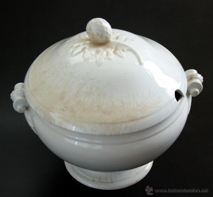 Antigüedades: GRAN SOPERA DE SAN JUAN DE AZNALFARACHE - SEVILLA - SELLOS EN LA BASE - S. XIX - Foto 4 - 41134415