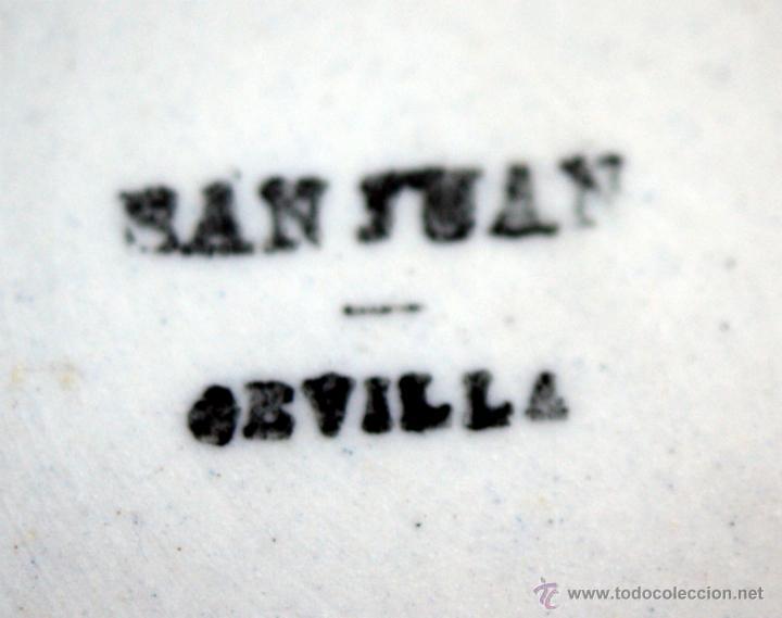 Antigüedades: GRAN SOPERA DE SAN JUAN DE AZNALFARACHE - SEVILLA - SELLOS EN LA BASE - S. XIX - Foto 10 - 41134415