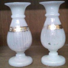 Antigüedades: 2 JARRONES DE CRISTAL SOPADO, DEL SIGLO XIX. Lote 41140323