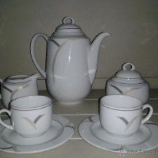 Antigüedades: JUEGO DE CAFE -- SANTA CLARA -- PORCELANA -- 9 SERVICIOS --. Lote 41140875