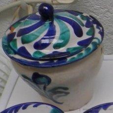 Antigüedades: BOMBONERA DE FAJALAUZA. CERÁMICA. ORZA. CERÁMICA DE GRANADA.. Lote 41146290